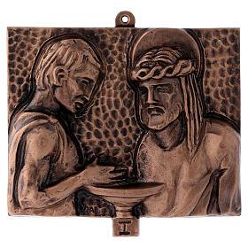 Stazioni Via Crucis 15 quadri bronzo martellato s1