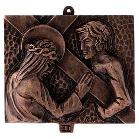 Stazioni Via Crucis 15 quadri bronzo martellato s2