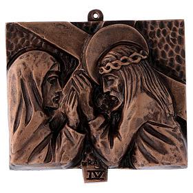 Stazioni Via Crucis 15 quadri bronzo martellato s4