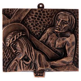 Stazioni Via Crucis 15 quadri bronzo martellato s7