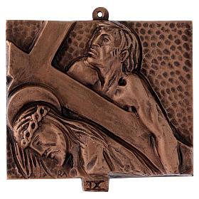 Stazioni Via Crucis 15 quadri bronzo martellato s9