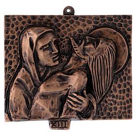 Stazioni Via Crucis 15 quadri bronzo martellato s13
