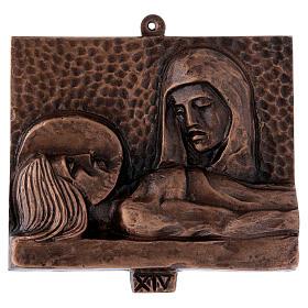 Stazioni Via Crucis 15 quadri bronzo martellato s14