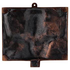 Stazioni Via Crucis 15 quadri bronzo martellato s17