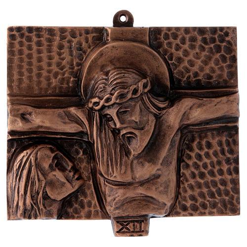 Stazioni Via Crucis 15 quadri bronzo martellato 12