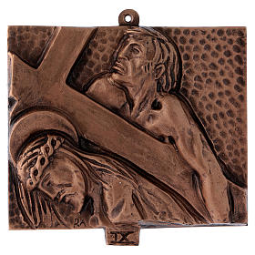 Way of the Cross in hammered bronze, 15 stations s9