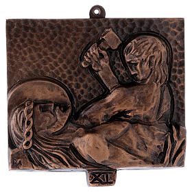 Way of the Cross in hammered bronze, 15 stations s11