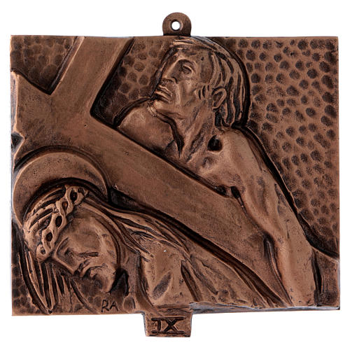 Way of the Cross in hammered bronze, 15 stations 9