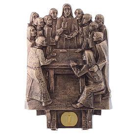 Cuadros estaciones Vía Crucis 14 piezas bronce s1
