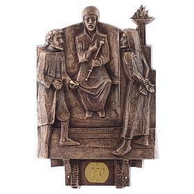 Cuadros estaciones Vía Crucis 14 piezas bronce s4