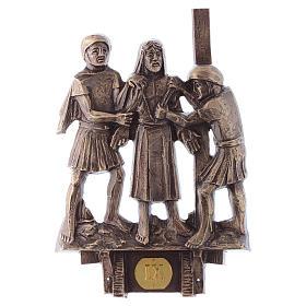 Cuadros estaciones Vía Crucis 14 piezas bronce s9