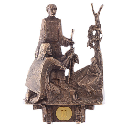 Cuadros estaciones Vía Crucis 14 piezas bronce 2