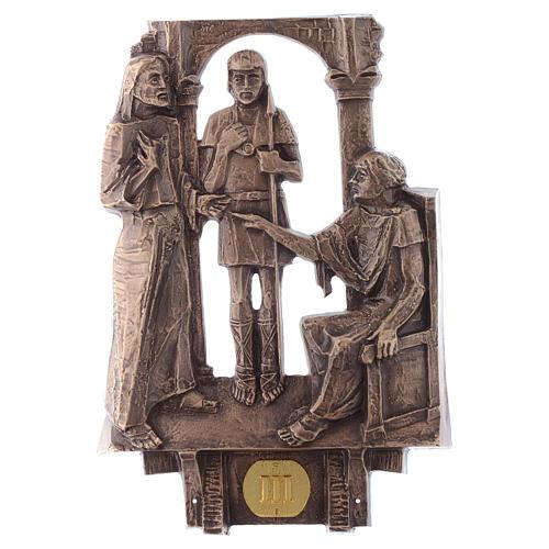 Cuadros estaciones Vía Crucis 14 piezas bronce 3