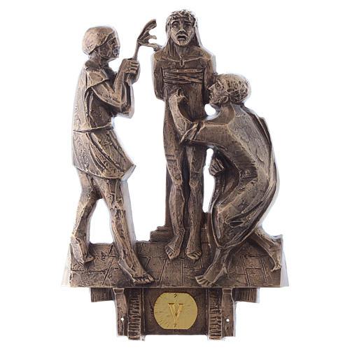 Cuadros estaciones Vía Crucis 14 piezas bronce 5