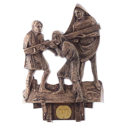 Cuadros estaciones Vía Crucis 14 piezas bronce 6