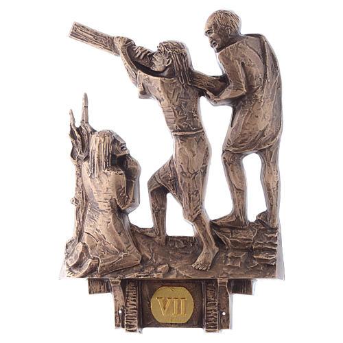 Cuadros estaciones Vía Crucis 14 piezas bronce 7
