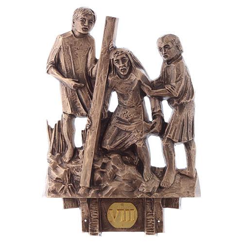 Cuadros estaciones Vía Crucis 14 piezas bronce 8