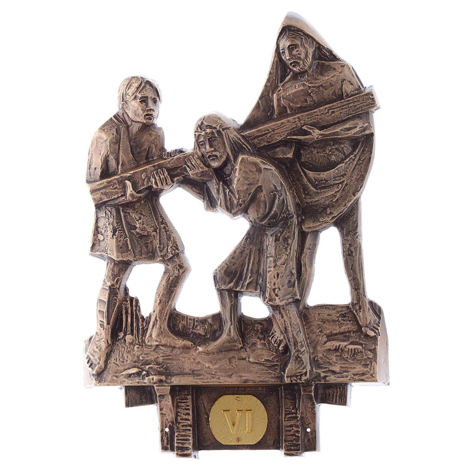 Stazioni Via Crucis 14 quadri bronzo 4