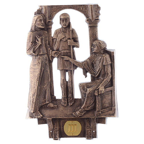 Stazioni Via Crucis 14 quadri bronzo 3