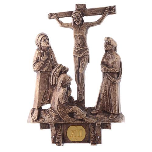 Stazioni Via Crucis 14 quadri bronzo 12