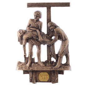 Stations of the Cross in bronze, 14 stations s13