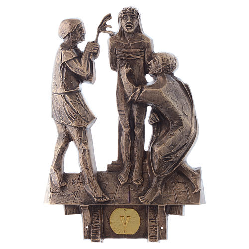 Stations of the Cross in bronze, 14 stations 5
