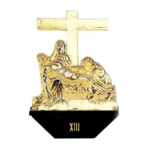 Via Crucis 14 stazioni fusione ottone 1