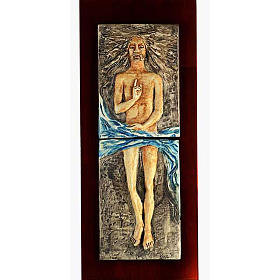 Risen Christ in majolica, 15th station s1