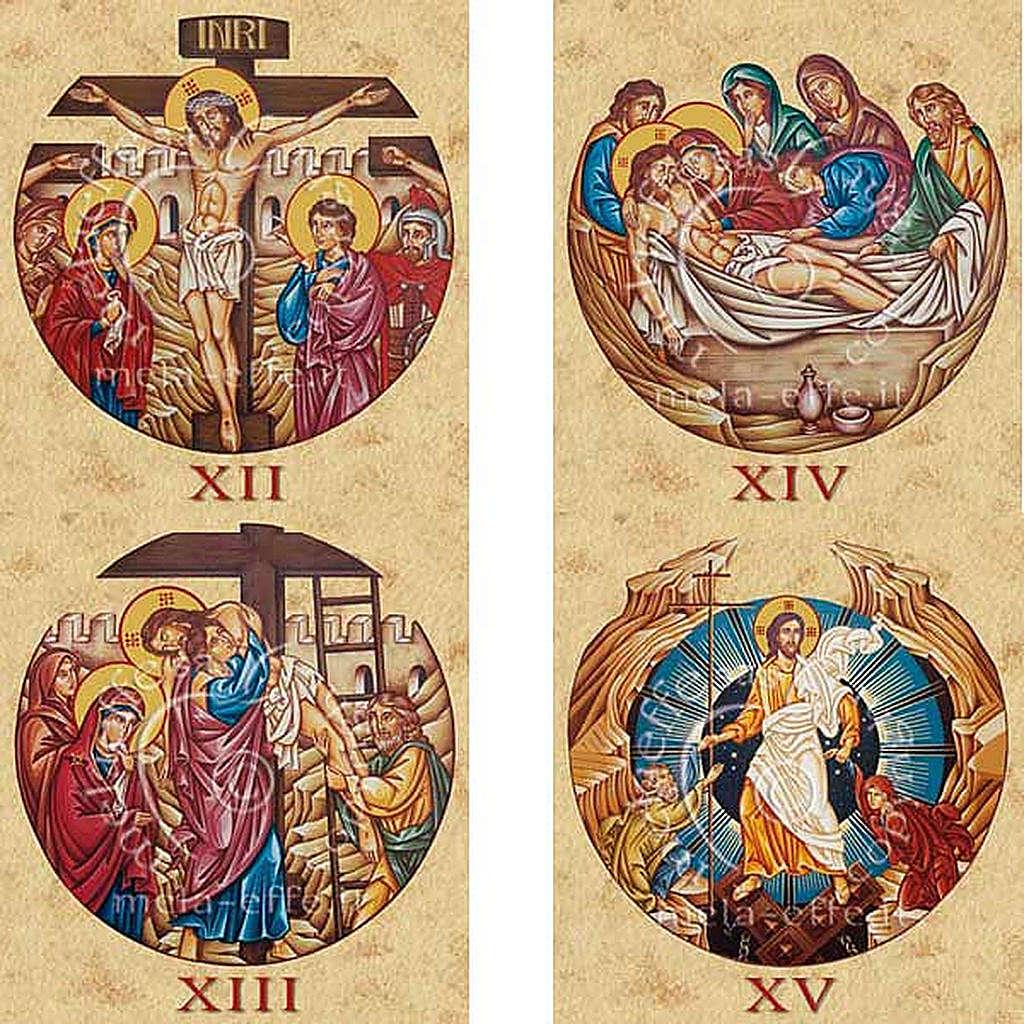 Estampa Vía Crucis 15 estaciones 3