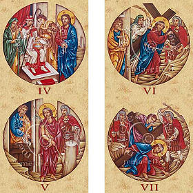 Estampa Vía Crucis 15 estaciones s3