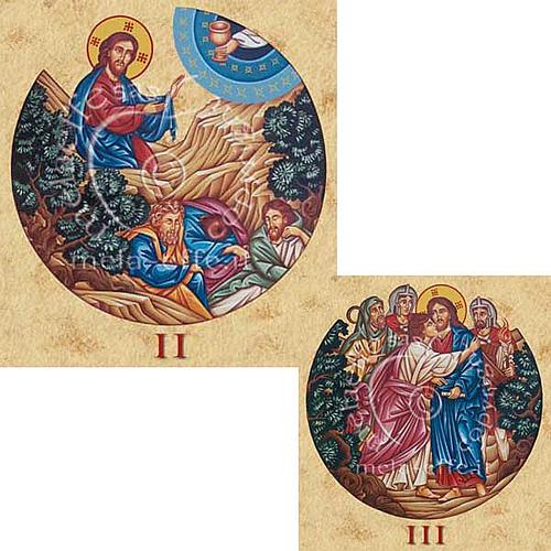 Estampa Vía Crucis 15 estaciones 2