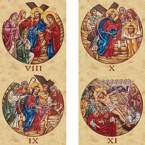 Estampa Vía Crucis 15 estaciones 4