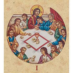 Tableaux, gravures, manuscrit enluminé: Imprimerie Chemin de croix 15 stations