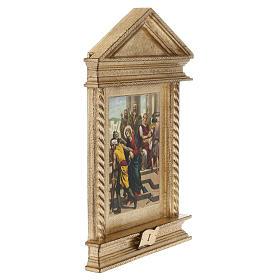 Via Crucis legno tortiglioni a punta XV stazioni s4