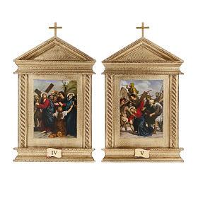 Via Crucis legno tortiglioni a punta XV stazioni s8