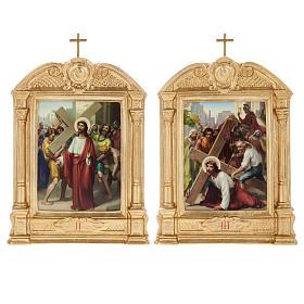 Vía crucis altar madera XV estaciones s8