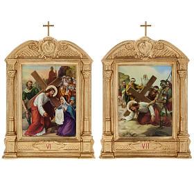 Vía crucis altar madera XV estaciones s10
