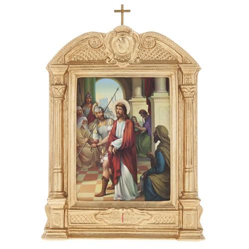 Vía crucis altar madera XV estaciones 1