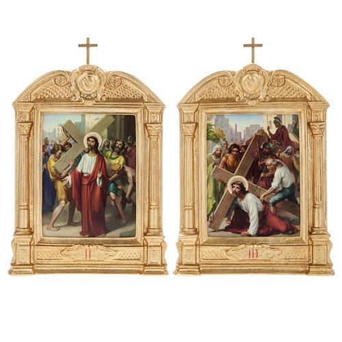 Vía crucis altar madera XV estaciones 8