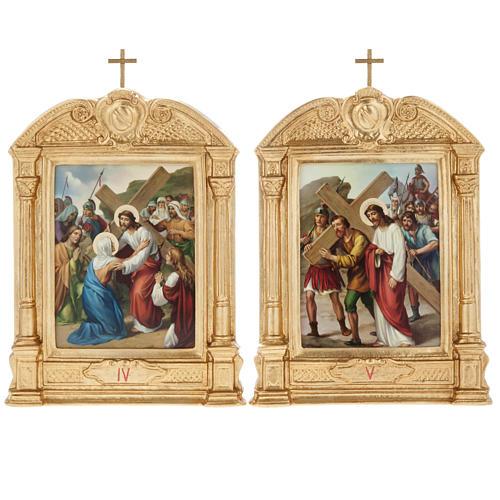 Vía crucis altar madera XV estaciones 9