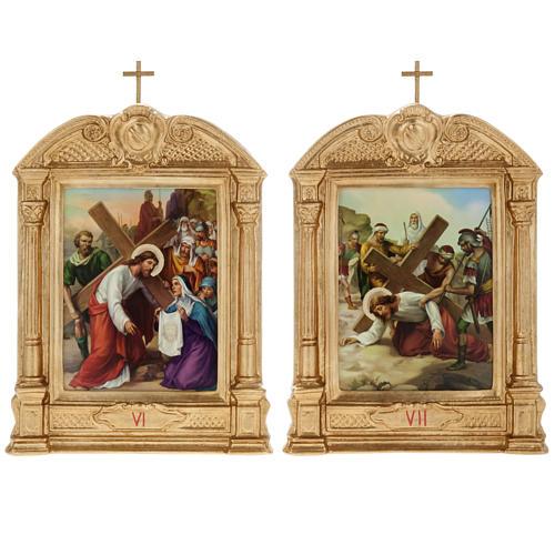 Vía crucis altar madera XV estaciones 10