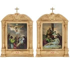 Via Crucis altarini in legno XV stazioni s13