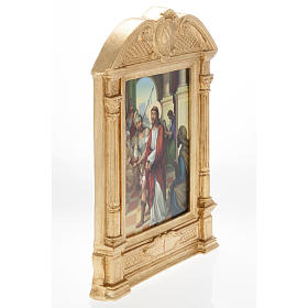 Stations of the Cross in wood decorated with columns, 15 stations s5