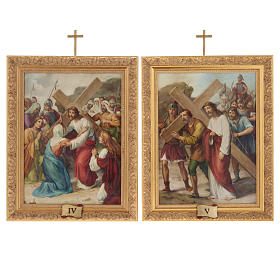 Way of the Cross in printed wood, 15 stations s11