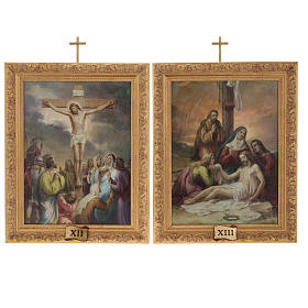 Way of the Cross in printed wood, 15 stations s15