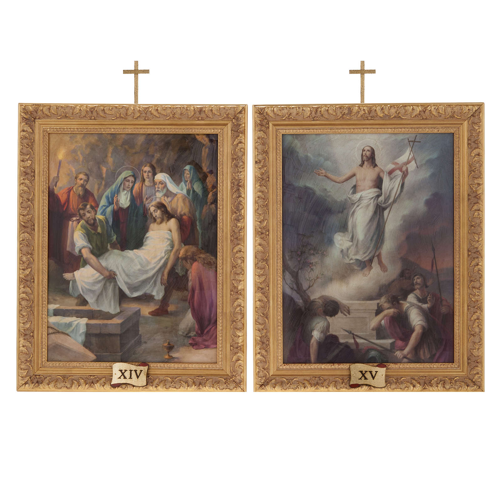 Via Crucis cuadros madera similar pintura 15 estaciones 4