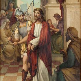 Via Crucis cuadros madera similar pintura 15 estaciones s2