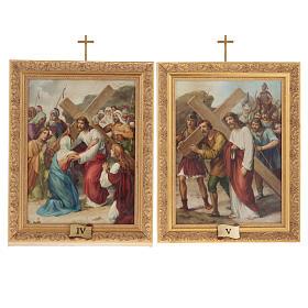 Via Crucis cuadros madera similar pintura 15 estaciones s10