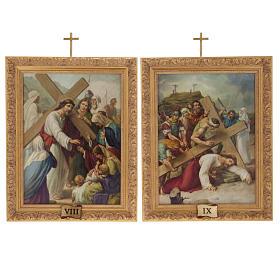Via Crucis cuadros madera similar pintura 15 estaciones s13