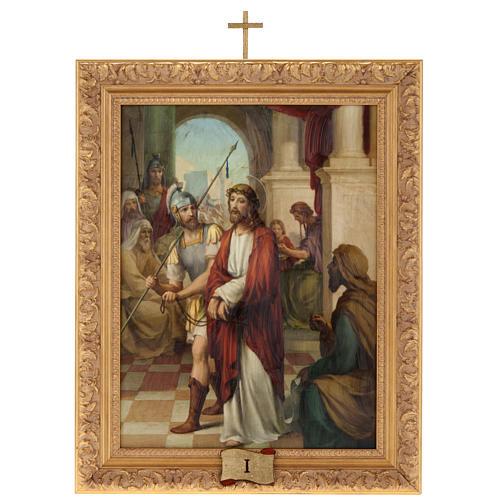 Via Crucis cuadros madera similar pintura 15 estaciones 1
